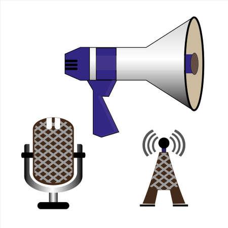 Communication icons illustration. Illustration