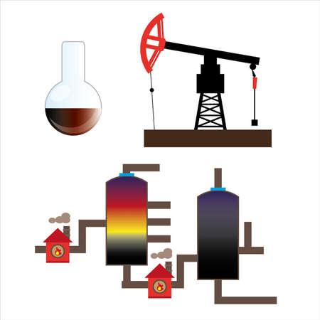 Oil industry icons illustration. Illustration