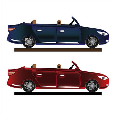 Car cabriolet icon illustration.
