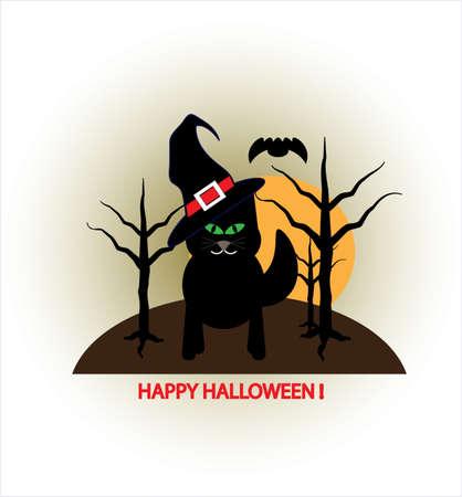 Black kitten icon.