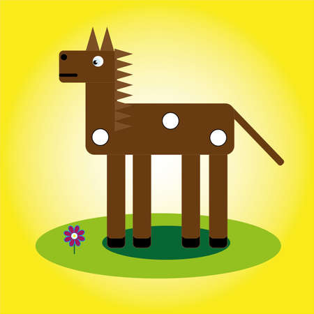 Brown horse icon illustration. Ilustrace