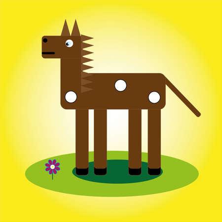 Brown horse icon illustration. Illustration
