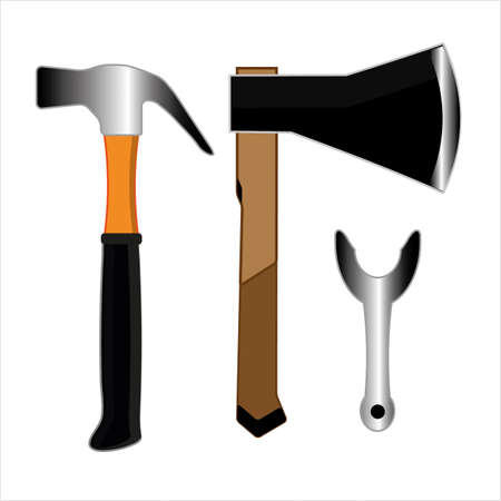 Carpentry tools icon illustration.