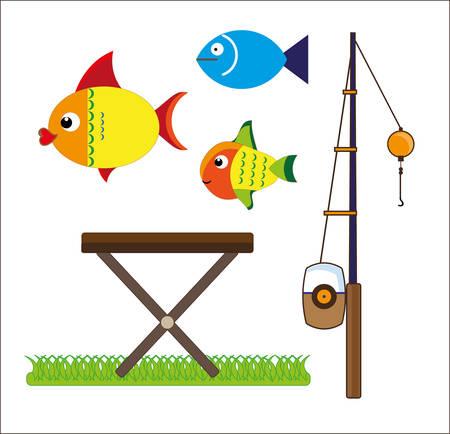 Fishing tackle icon illustration.