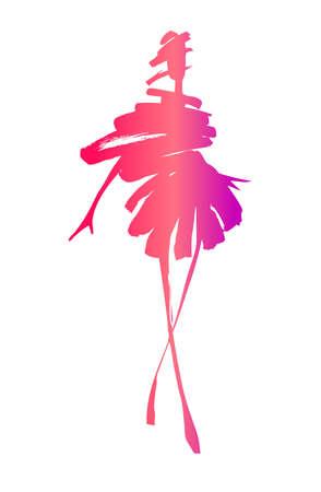 Fashion woman silhouette Hand gezeichnete Skizze
