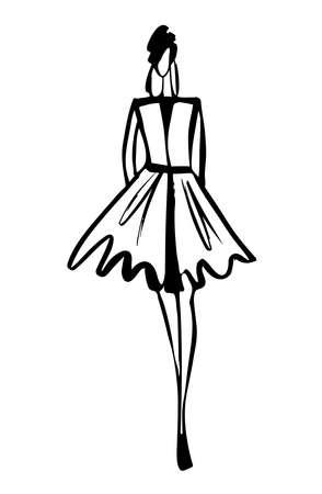 Boceto de mujer de moda