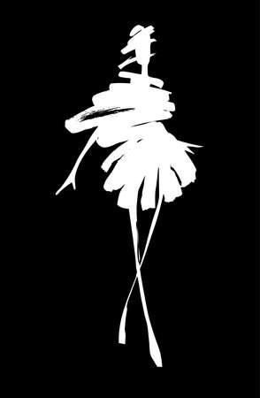 belle dame: Mode femme croquis Illustration