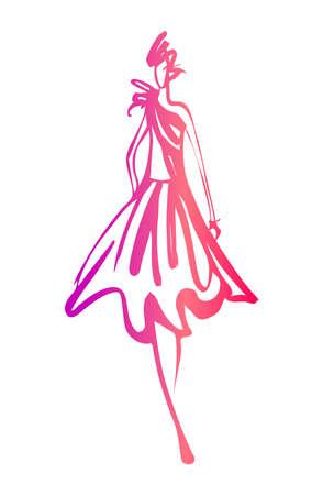 Fashion woman sketch Illustration