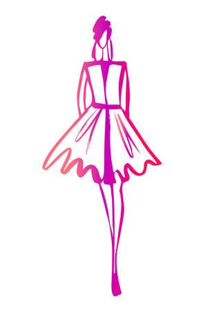 woman sketch: Fashion woman sketch Illustration