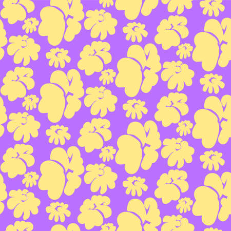 purpule: Floral seamless pattern
