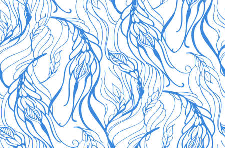 free background: Floral seamless pattern with feather vector illustration Illustration