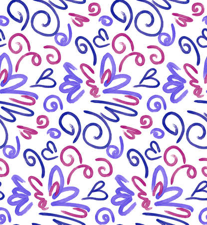 free hand: Abstract background seamless pattern illustration. Free hand drawings .Craft paper, fabric swatch. Illustration