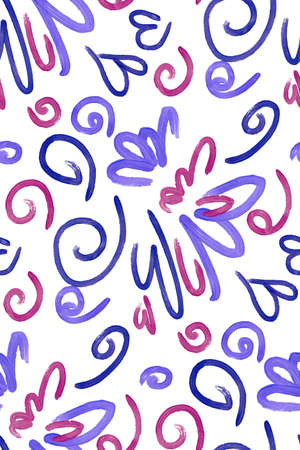 swatch: Abstract background seamless pattern illustration. Free hand drawings .Craft paper, fabric swatch. Illustration