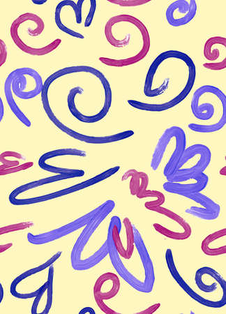 fabric swatch: Abstract background seamless pattern illustration. Free hand drawings .Craft paper, fabric swatch. Illustration