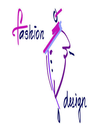 Fashion model sketch hand drawn, stylized woman silhouette isolated on white. Vector fashion illustration. Illustration