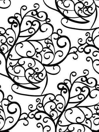 abstract seamless background pattern with swirls vector Truck Wraps abstract seamless background pattern with swirls vector illustration hand drawn fabric swatch wrapping