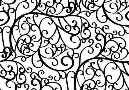 pattern: Abstract seamless background pattern with swirls. Vector illustration hand drawn. Fabric swatch, wrapping paper. Illustration