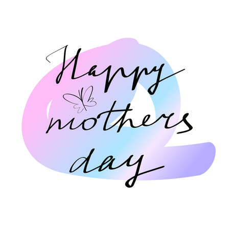 Hand drawn lettering. Happy mothers day isolated. Vector illustration. Lettering design background. Illustration
