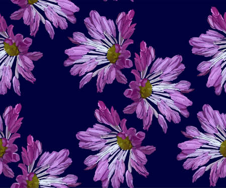 Garden flowers seamless pattern. Botanical illustration hand drawn. Vector floral design for fashion prints, scrapbook, wrapping paper.