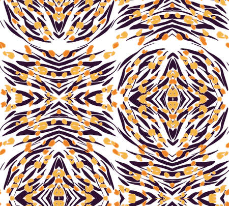 Animal texture seamless background pattern. Fashion print, textile design. Cute pattern. Vector.