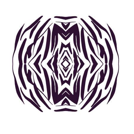 Elemento di design disegnato a mano. Illustrazione monocromatica di vettore per il disegno della carta.