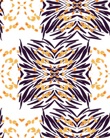 Animal texture seamless background pattern. Fashion print, textile design. Cute pattern. Vector.