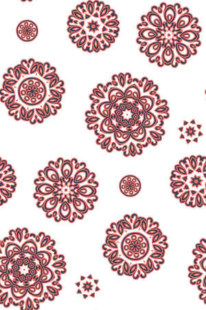 Mandala pattern. Seamless background pattern in oriental style. Vector. Textile design, fabric swatch ,wrapping paper, surface. Ilustrace
