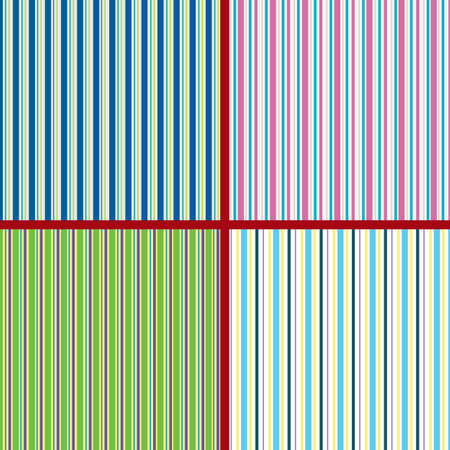 Set of multicolored vertical patterns. Bright spring colors. Textile, wrapping paper, colored background.Vector illustration. Vector Illustration
