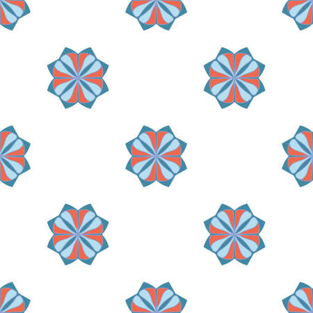 Blue flower pattern, great design for any purposes 向量圖像