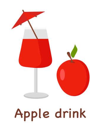 Apple drink label template for web design or print