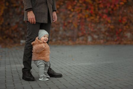 Baby Takes First Steps With Fathers Help.