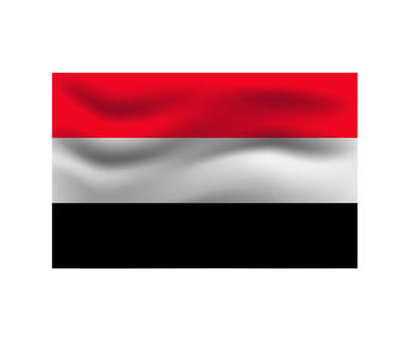 Flag of Yemen. Illustration