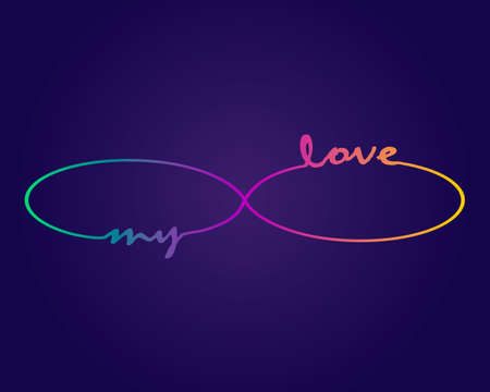 Vector infinity symbol. Gradient repetition and unlimited cycling icon icon sign sign. My love Cyclical design.