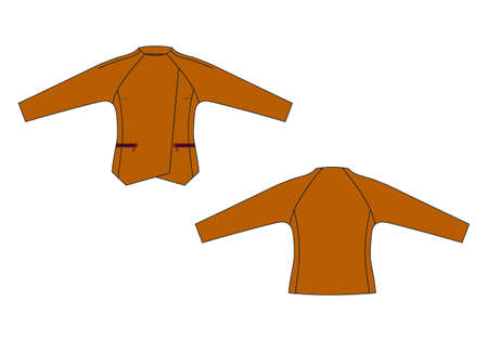 Vector illustration of jacket. Front and back views
