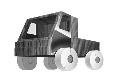 Realistic cool toy car art. Isometric vector illustration- vektorgrafik.