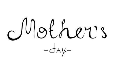 Mothers Day hand lettering design. Calligraphy vector text