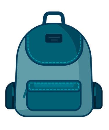 Icône de sac à dos. Symbole de l'école de vecteur. Icône de voyage.