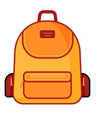 Backpack icon. Vector school symbol. Travel icon.
