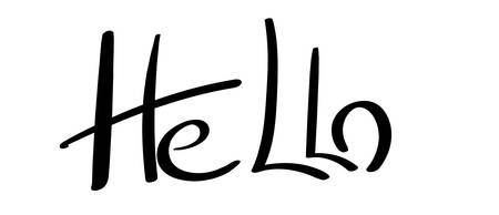 Hello hand-lettering. Vector hand drawn calligraphy word.