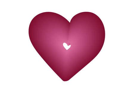 Heart symbol isolated on white