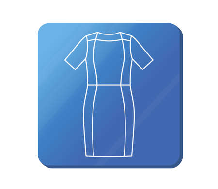 dress icon. Simple outline dress vector icon.