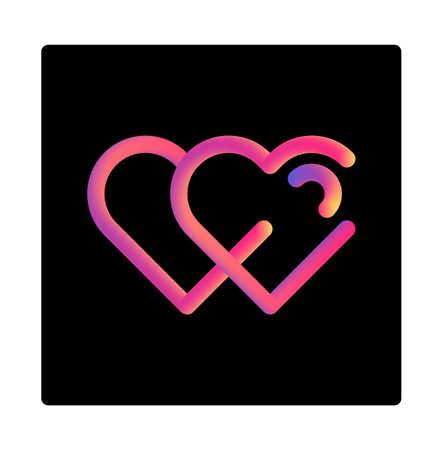 Gradient liquid design best love vector illustration, love icon, heart vector icon, love symbol Çizim