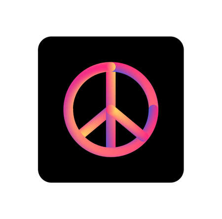 Pacifism icon. Colorful linear pacifism outline icon. Line vector sign, symbol for web and mobile.