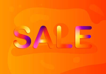 Sale banner layout design. Colorful vector illustration.