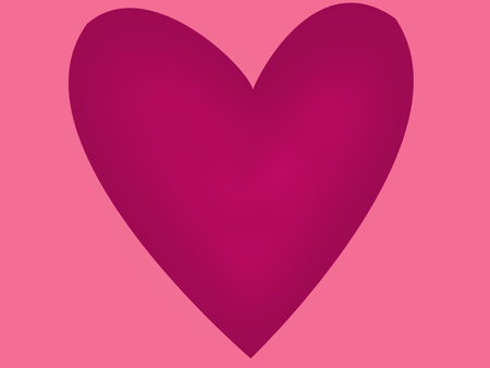1 large lilac heart on pink background, illustration, Valentines day card