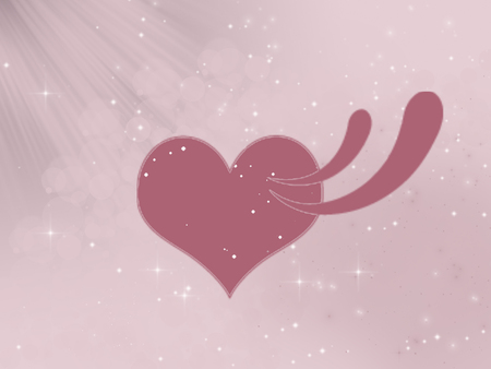 pink heart on pink background with white lights, print, illustration, Фото со стока