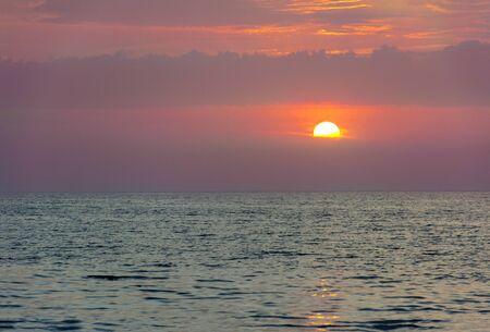 beautiful sunset over the Aegean sea ,Greece, Rhodes, seascape
