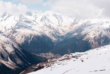 Caucasus,  mountains, winter, snow, nature, mountain landscape, Stok Fotoğraf