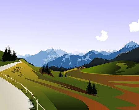Dolomiti mountains panorama  Illustration