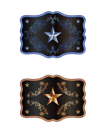 rodeo americano: Buckles Vectores